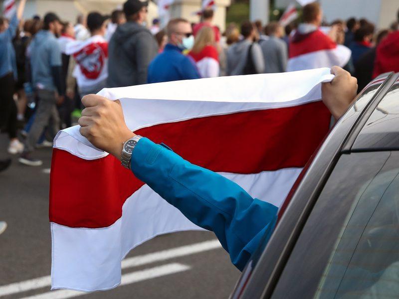 Rusijos užsienio žvalgyba: JAV vaidina svarbų vaidmenį Baltarusijos protestuose