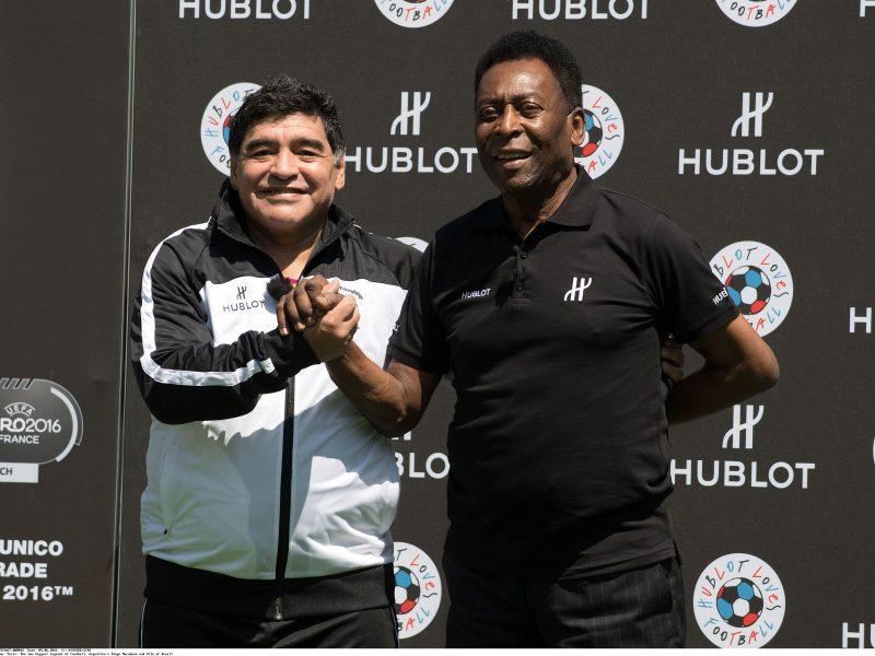 Seni varžovai Pele ir D. Maradona skelbia taiką