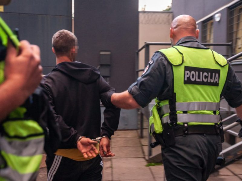 Girtas kaunietis apkandžiojo policininką