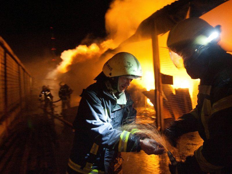 Marijampolėje po pastatus nusiaubusio gaisro mirė vyras