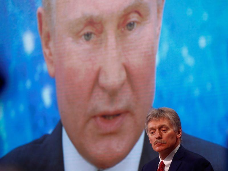 Kremlius sako, kad neartėja prie karo su Ukraina