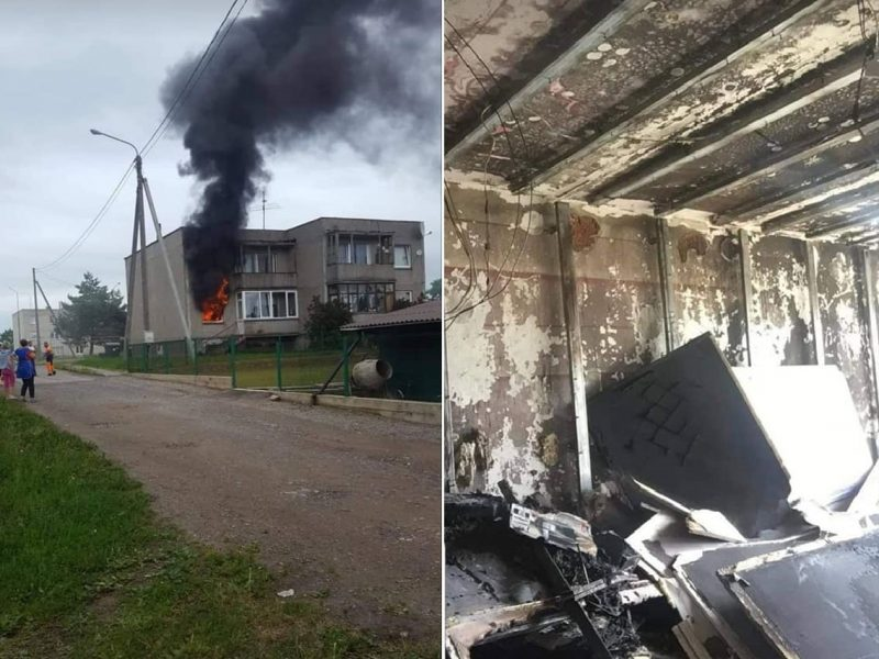 Šeimai reikalinga pagalba: gaisras sunaikino ir turtą, ir mylimus augintinius