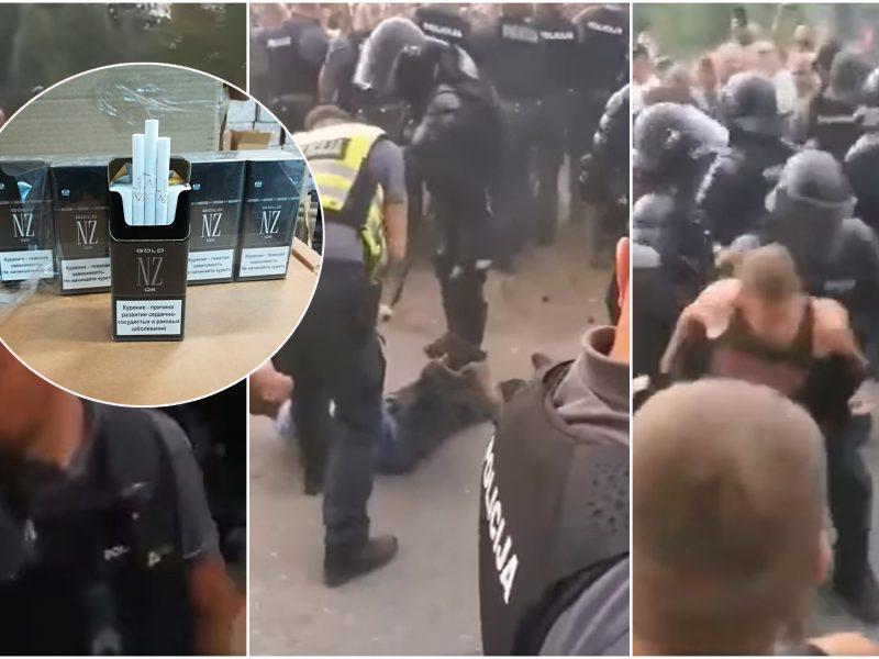 Braižo protestuotojų prieš migrantus paveikslą: tarp jų –  ir susijusieji su kontrabanda