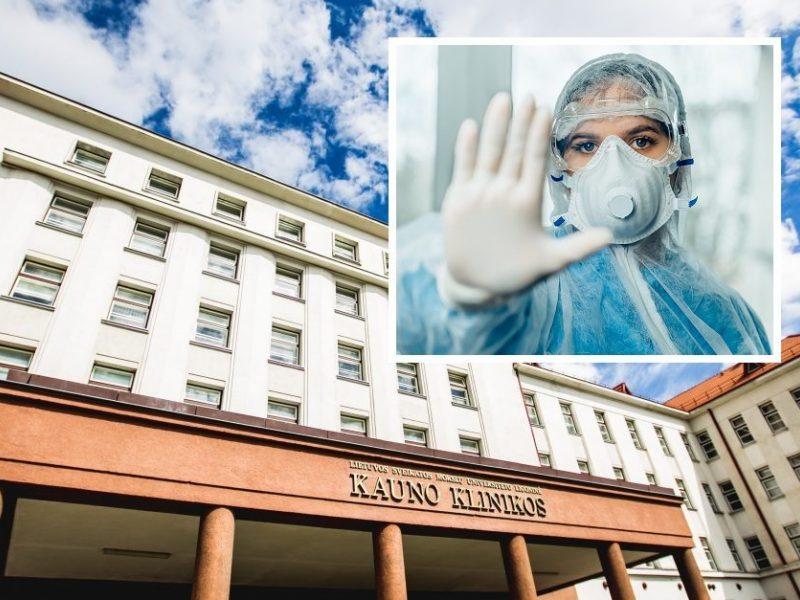 Kauno klinikų direktorius: tokio kiekio užsikrėtusiųjų viename skyriuje dar nėra buvę