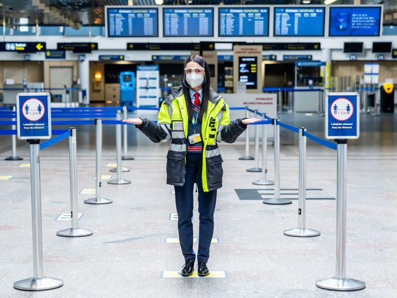Primena: į šalies oro uostus – tik su apsaugine veido kauke
