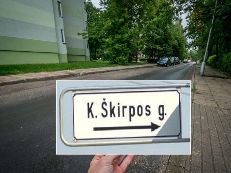 Vilniui sprendžiant, ar pervadinti K. Škirpos alėją, Kaunas imtis veiksmų neskuba