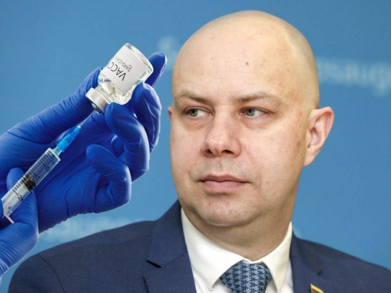 A. Veryga: kalbos apie vakcinacijos skatinimą ir saugumo užtikrinimą yra tik blefas