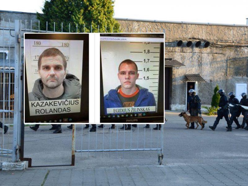 Per kelias dienas baigtas ikiteisminis tyrimas dėl iš Pravieniškių pabėgusių kalinių