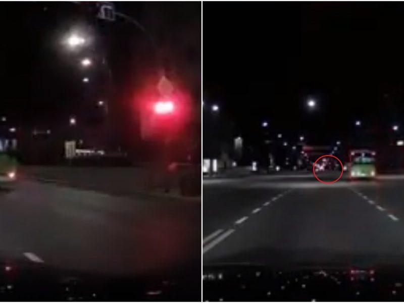 Trūksta žodžių: troleibusas sankryžą kirto degant raudonai, vos nekliudė dviratininko