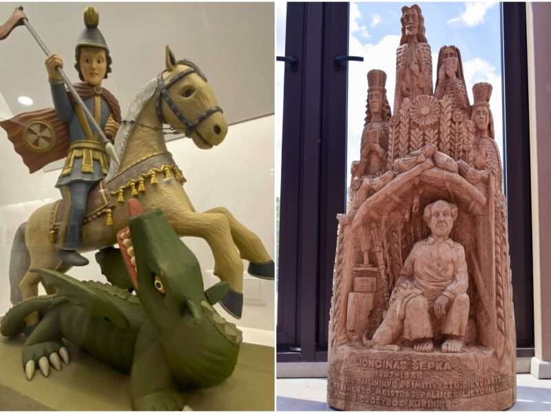 Medžio skulptūrų parodoje – tautodailės meno stebuklai