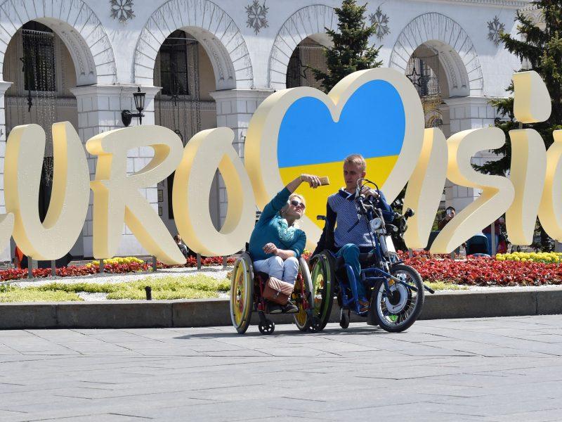 Ukrainos piliečiai Lietuvoje balsuoja prezidento rinkimų antrajame ture