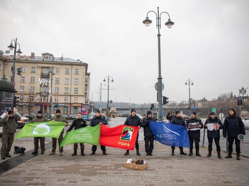 Pareigūnų įspėjamasis protestas
