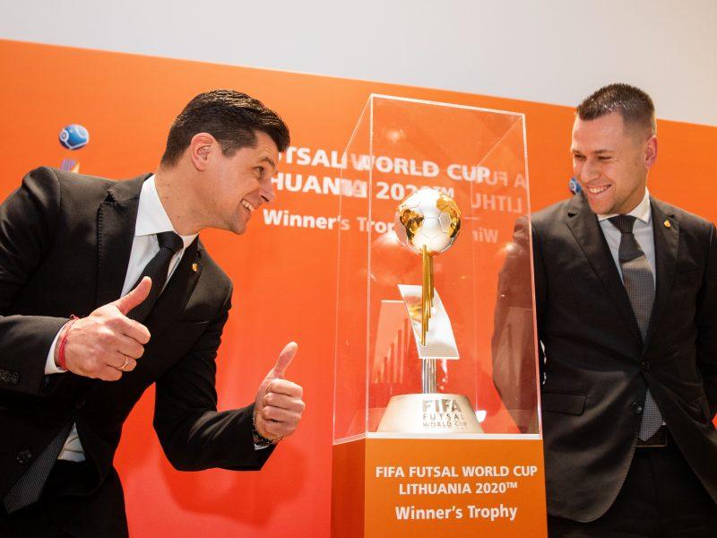 FIFA Pasaulio salės futbolo čempionato emblemos pristatymas