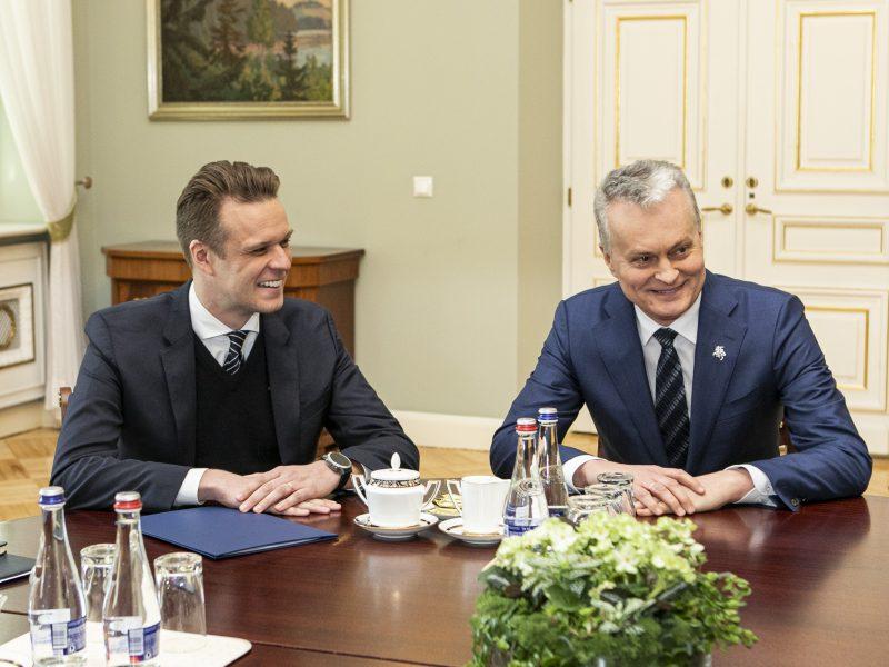 G. Nausėdos ir G. Landsbergio susitikimas