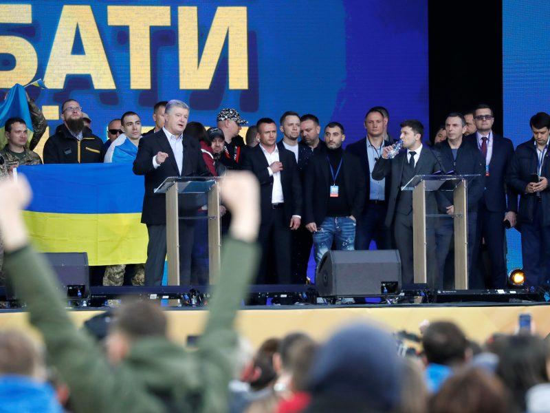 P. Porošenkos ir V. Zelenskio debatai Kijevo stadione