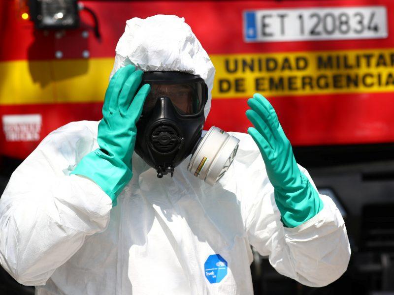 Ispanijoje koronaviruso epidemijos aukų skaičius peržengė 4 tūkst.