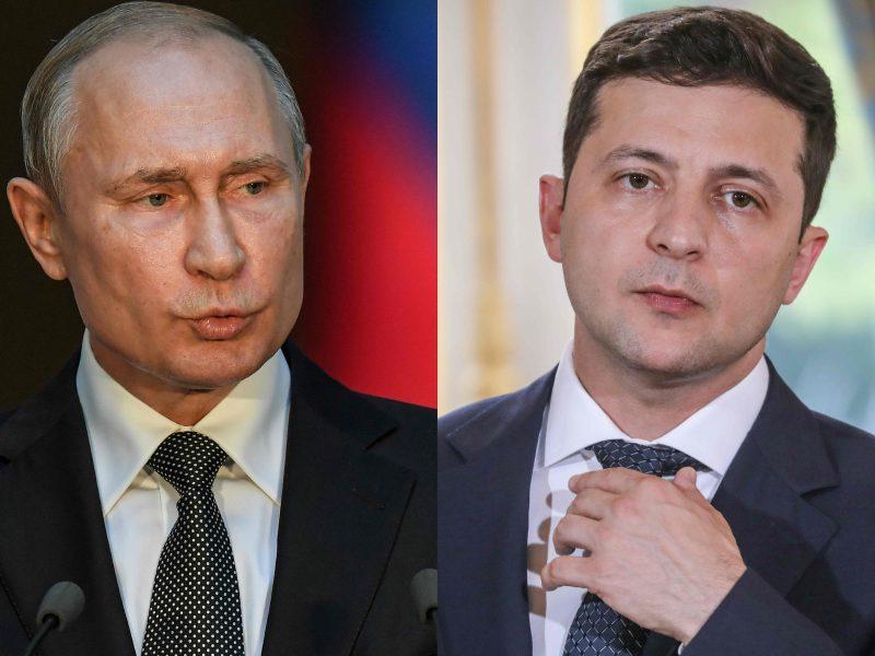 V. Putinas ir V. Zelenskis svarsto galimybę rengti naujas taikos derybas