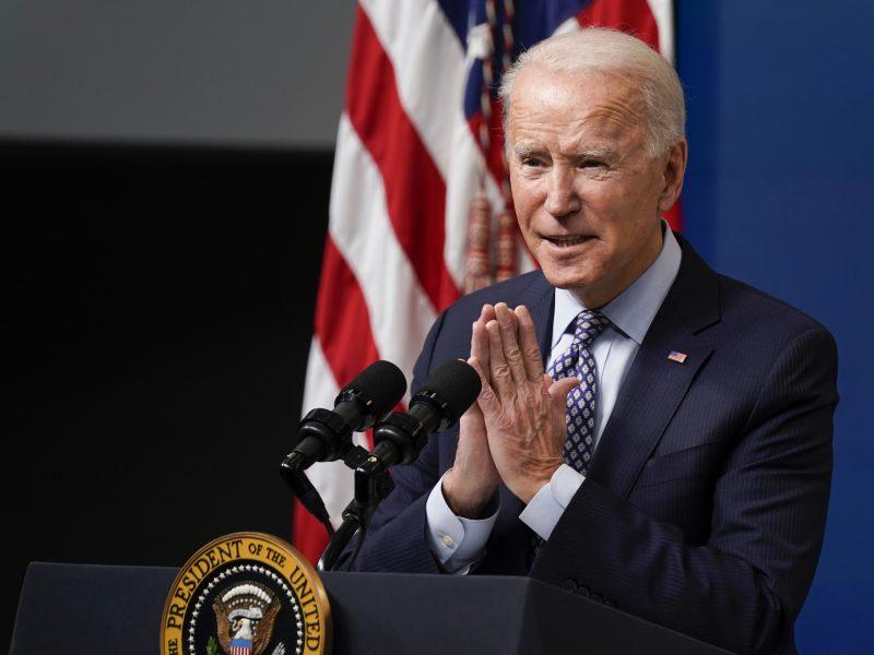 J. Bidenas: JAV niekuomet nepripažins Rusijos įvykdytos agresyvios Krymo aneksijos