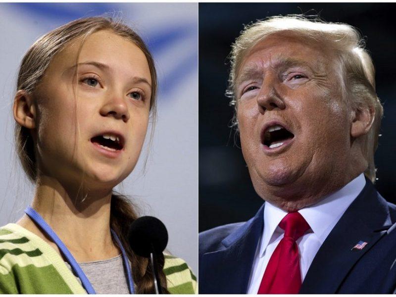 "G. Thunberg linki ""seneliukui"" D. Trumpui ""nuostabios ateities"""