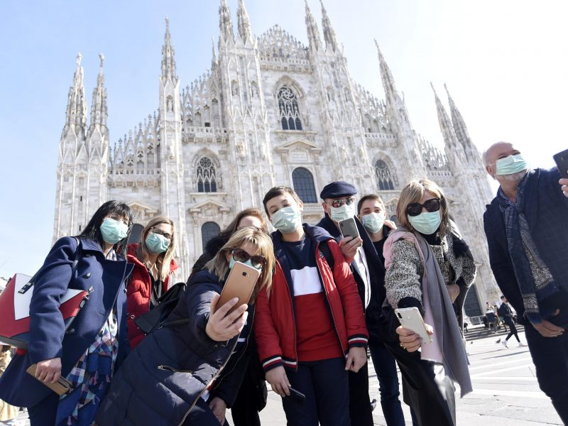 Koronaviruso protrūkis Šiaurės Italijoje