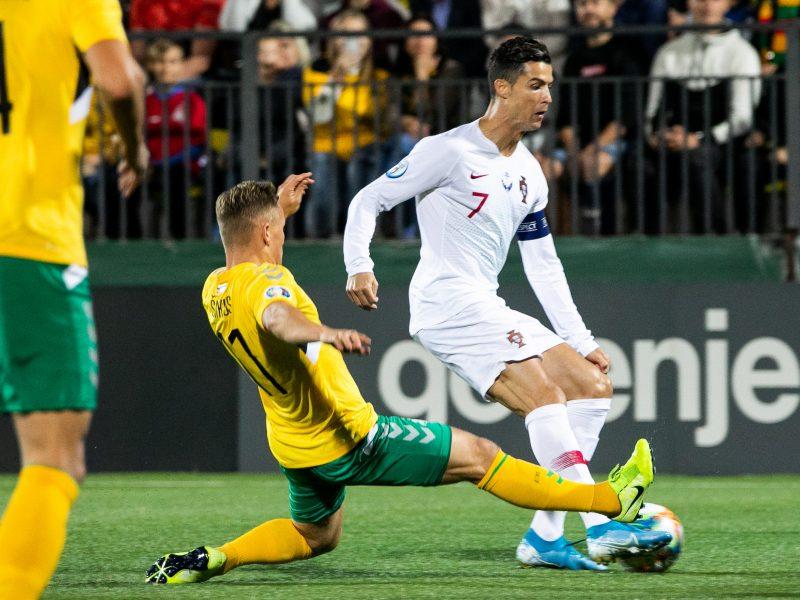 Portugalas C. Ronaldo Vilniuje pasižymėjo keturiais įvarčiais