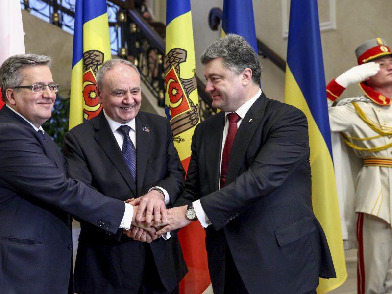 Moldovos prezidentas Kišiniove susitiko su Lenkijos ir Ukrainos lyderiais