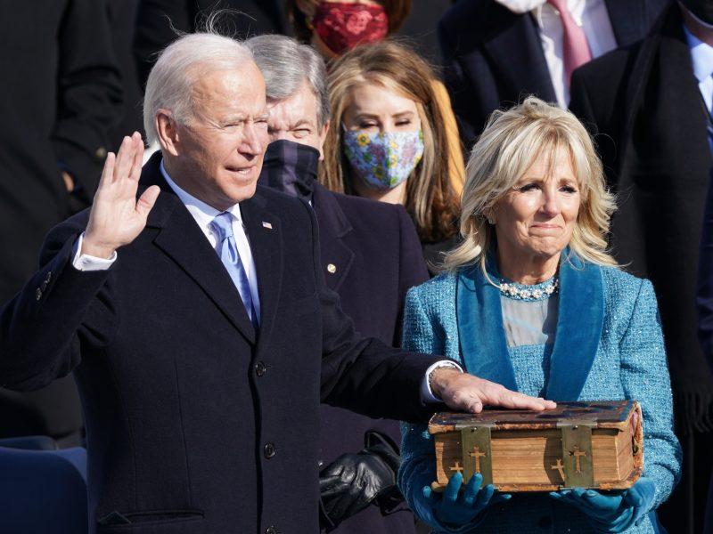 J. Bidenas prisaikdintas 46-uoju JAV prezidentu