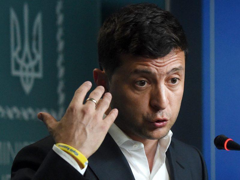 V. Zelenskis: turiu atsarginį planą karui Rytų Ukrainoje užbaigti