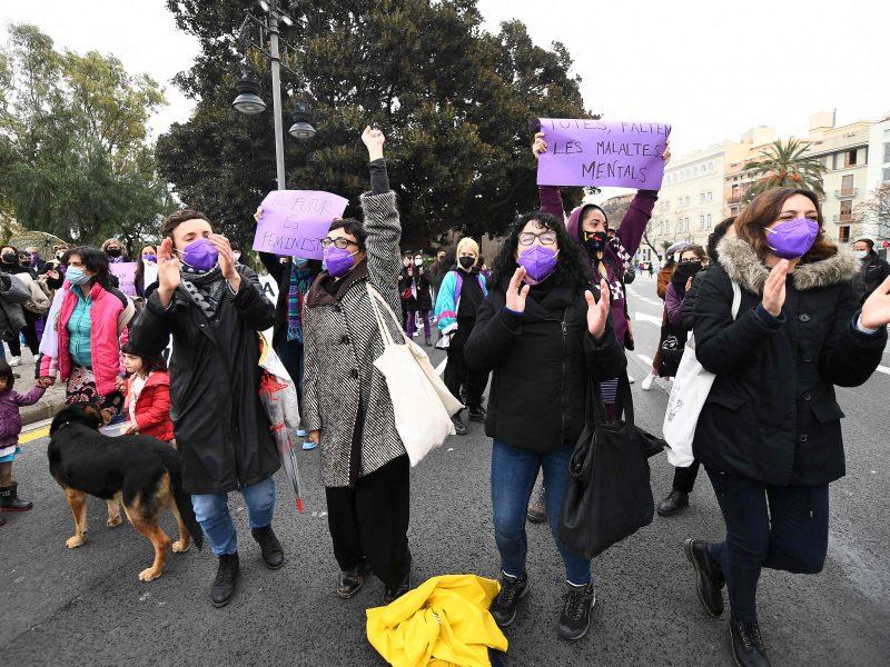 Tarptautinę moterų dieną Ispanijoje, išskyrus Madridą, vyko demonstracijos