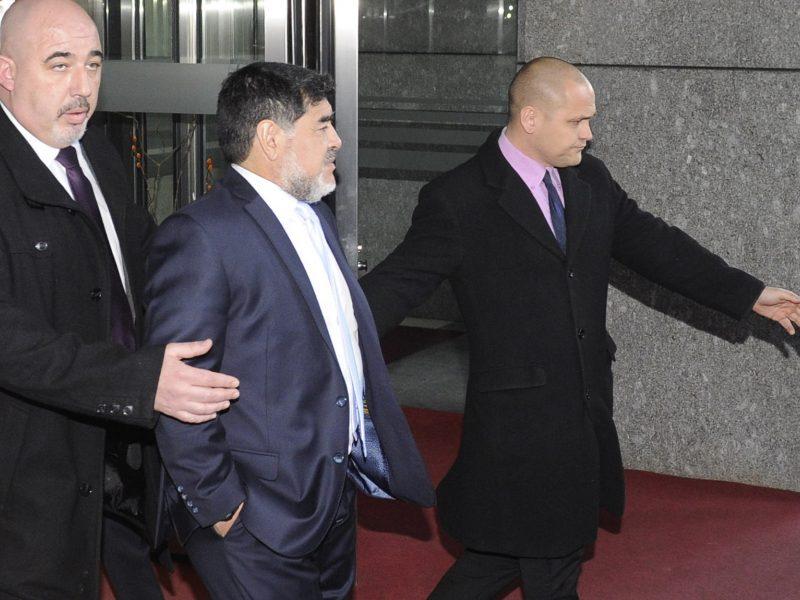 Madrido viešbučio darbuotojai kvietė policiją D. Maradonai