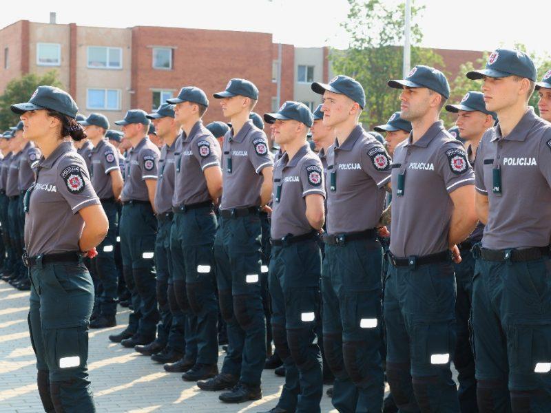 Mokslo metų pradžia Lietuvos policijos mokykloje