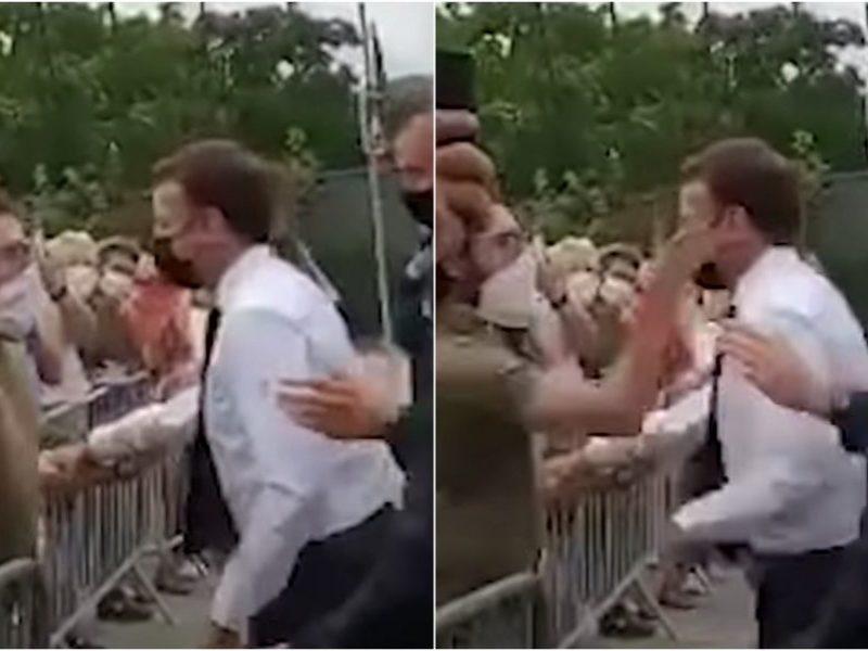 Antausį E. Macronui rėžęs vyras kalėjime praleis keturis mėnesius