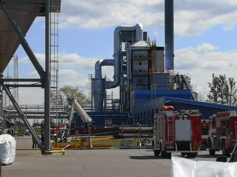 Avarija granulių gamykloje – likviduota
