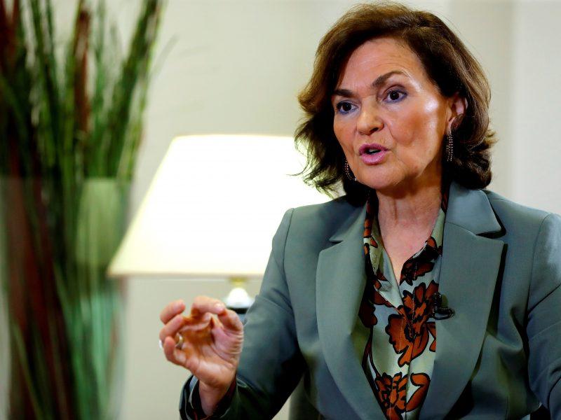 Ispanijos vicepremjerei C. Calvo patvirtintas koronavirusas