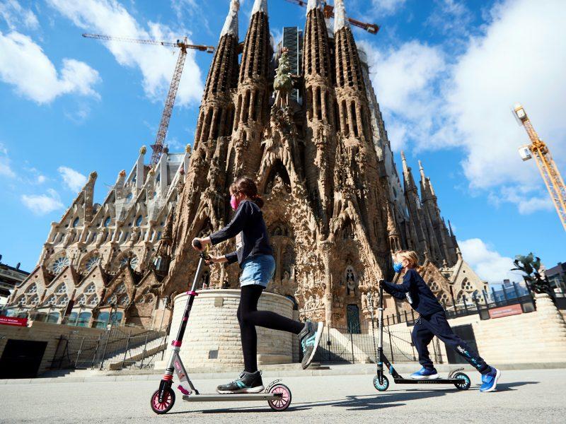Šventosios Šeimos katedros statyba Barselonoje šiemet jau nebus atnaujinta