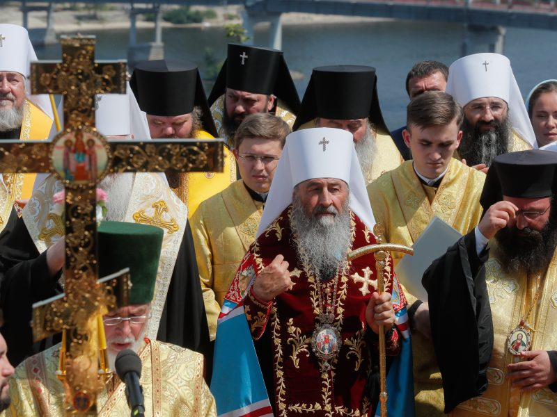 Kijevo gatvėmis žygiavo Rusijos remiamos Bažnyčios tikintieji