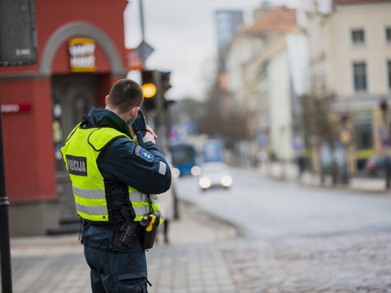 Klaipėdos senamiestyje pareigūnai per pora valandų užfiksavo 12 greičio viršijimo atvejų