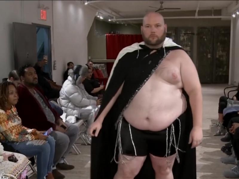 Madų šou apvalių formų vyrams