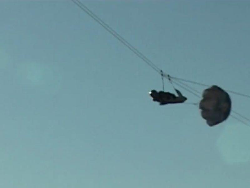 Rusų ekstremalas pasiekė leidimosi virve greičio ir ilgio rekordą