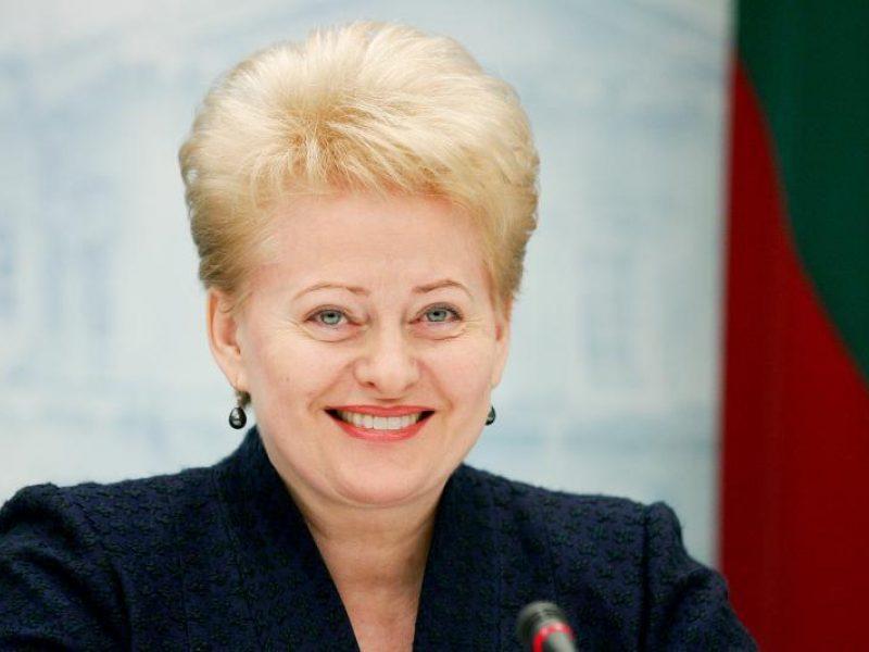 Prezidentė pasveikino Rusijos vadovą