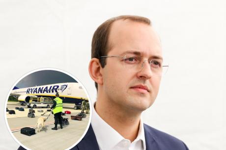 Ministras: galutinės ataskaitos dėl Minske priverstinai nutupdyto lėktuvo tikimasi lapkritį