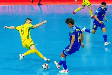 Kovingai žaidusi Lietuvos salės futbolo rinktinė favoritams neįgėlė