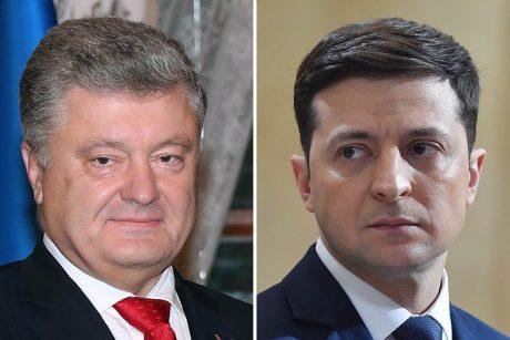 Ukrainos prezidento rinkimai: jauno komiko ir nesėkmingo reformatoriaus akistata