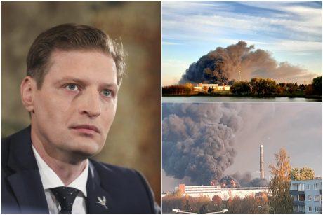 Alytuje degančios įmonės vadovas atmeta padegimo versiją, o ministras mano kitaip