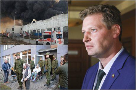 K. Mažeika apie gaisrą Alytuje: atsakomybė tenka įmonės savininkui