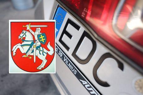 Seimas žengė pirmą žingsnį link Vyčio ženklo ant automobilių valstybinių numerių
