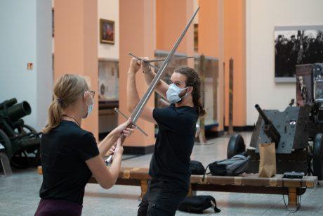 Muziejuje žvangėjo viduramžių ginklai