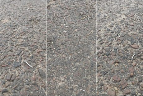 Iš Sargėnų skrieja perspėjimas: kažkas piktavališkai ant gatvės išbėrė vinių