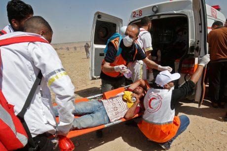 Gazos Ruože minint Nakbos metines per protestą sužeista daugiau nei 50 palestiniečių