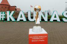 Pasiruošimas pasaulio salės futbolo čempionatui pasiekė finišo tiesiąją